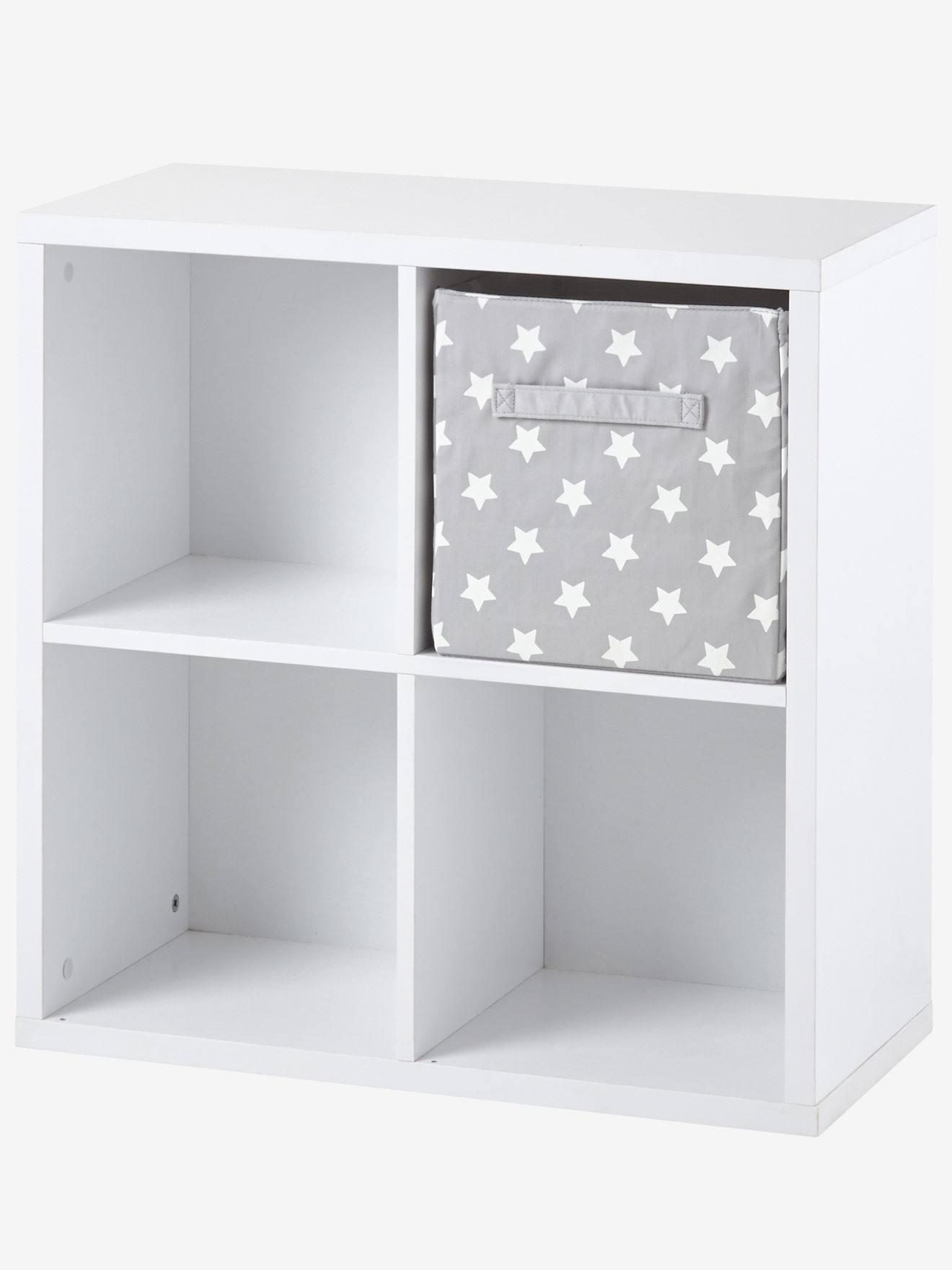 Great Meuble De Rangement 4 Cases Blanc+Gris 1   Vertbaudet Enfant