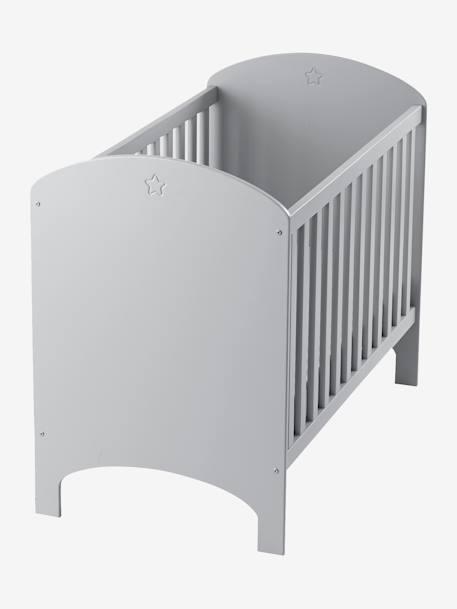 Lit bébé à barreaux LIGNE SIRIUS gris - Vertbaudet