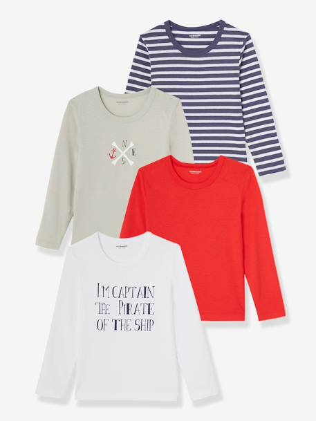 Lot de 4 T-shirts Assortis 2 - vertbaudet enfant