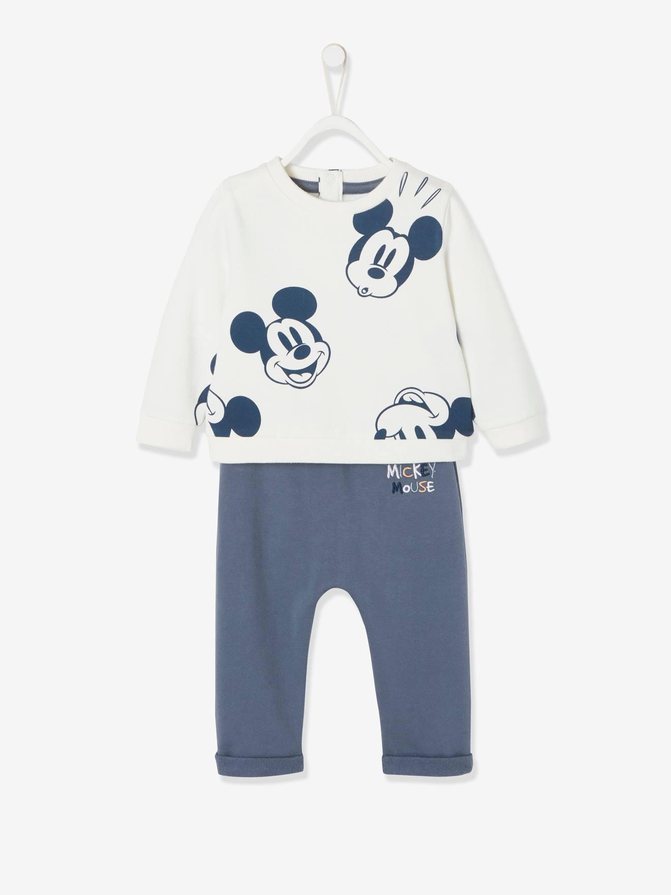 Ensemble bébé sweat-shirt et pantalon Disney Mickey® bleu - 18-3918 tcx / beige 11-