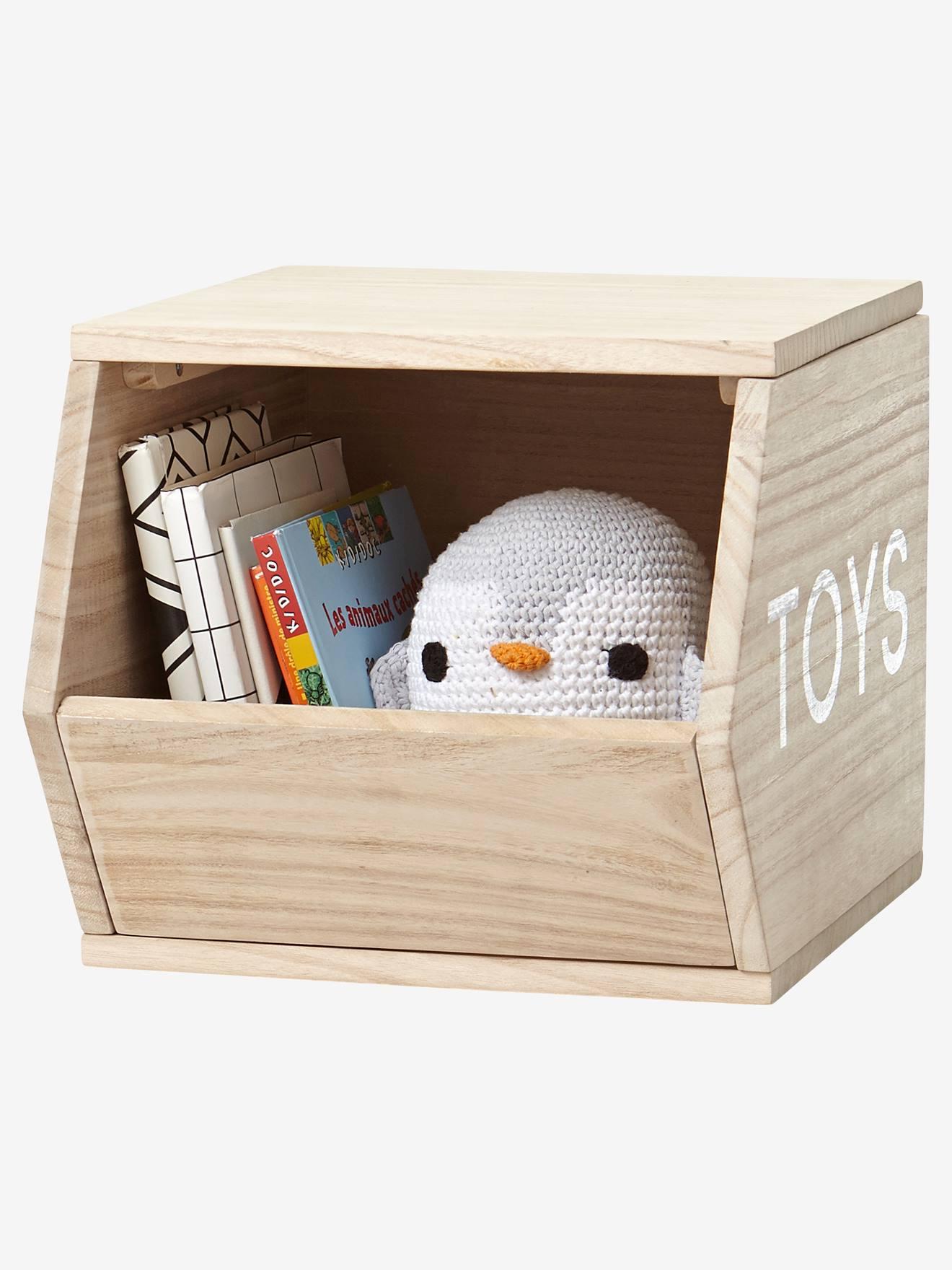 Cube de rangement Toys bois