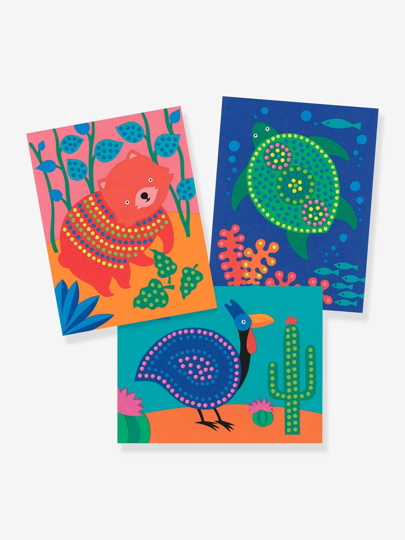 Peinture au Bâton - Pointillisme - DJECO multicolore