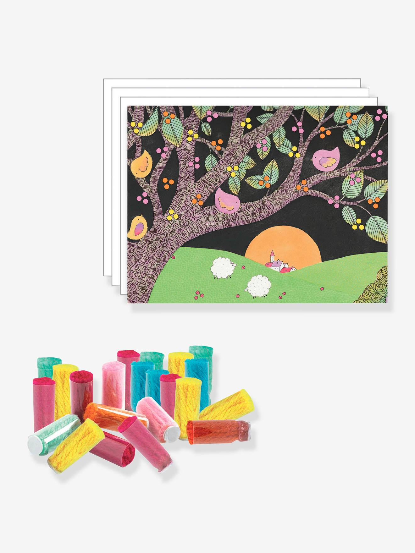 Explosion de pompons - DJECO multicolore