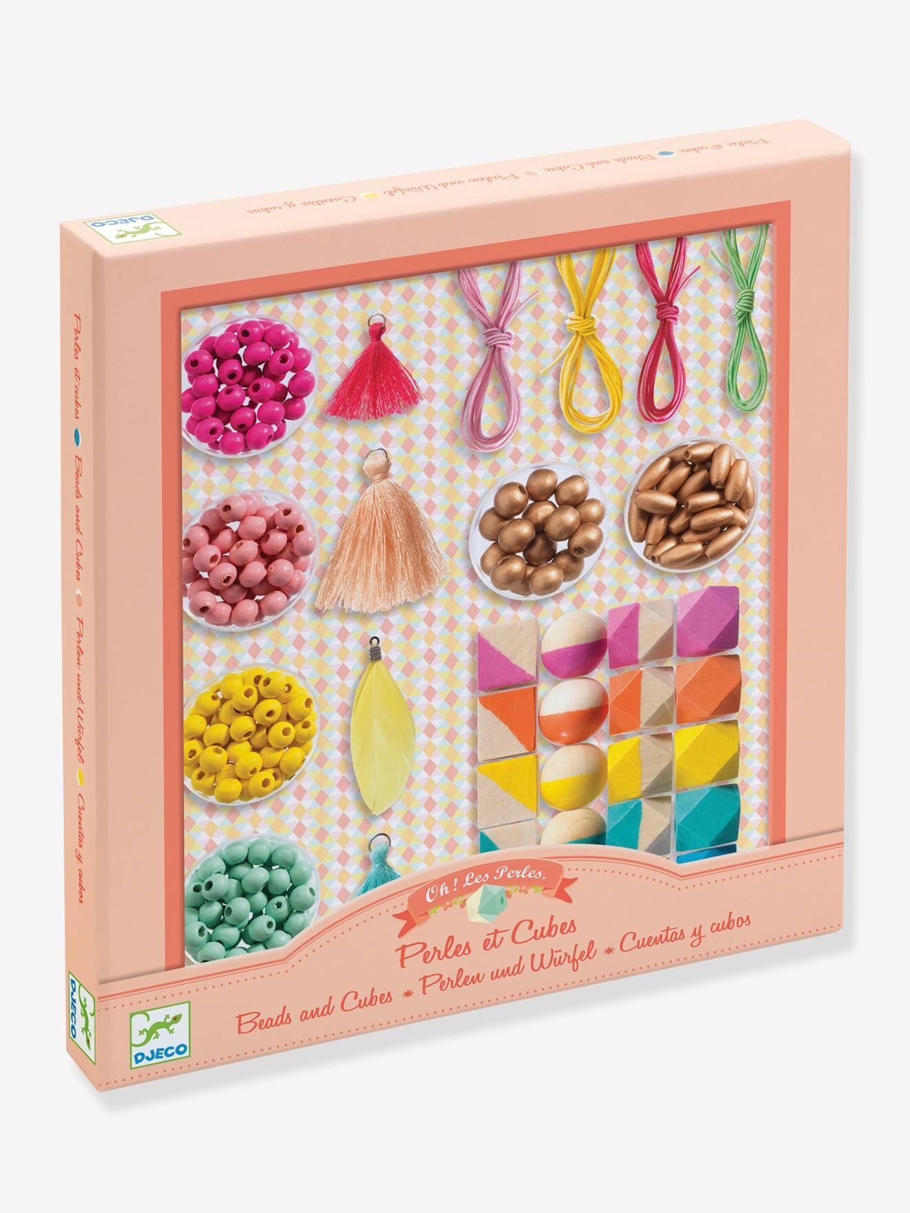 Coffret Perles et Cubes - DJECO multicolore