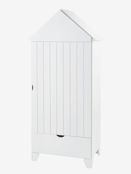 armoire 1 porte holidays blanc vertbaudet. Black Bedroom Furniture Sets. Home Design Ideas