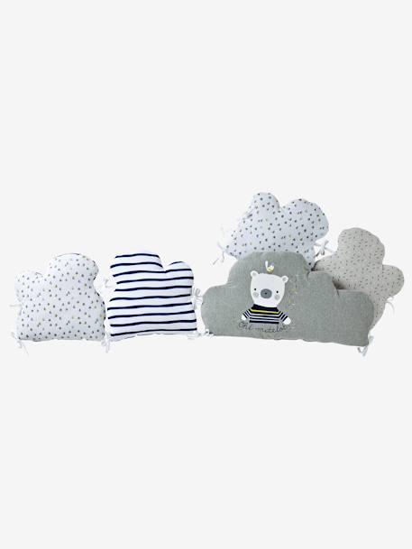 tour de lit modulable marin plaisir gris blanc vertbaudet. Black Bedroom Furniture Sets. Home Design Ideas