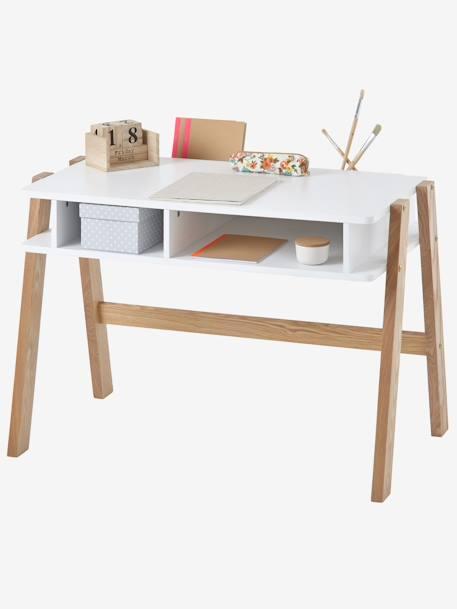 Bureau spécial maternelle LIGNE ARCHITEKT blanc/bois - Vertbaudet on