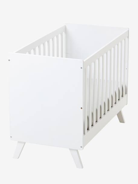 Lit bébé transformable à barreaux LIGNE MADISON blanc - Vertbaudet