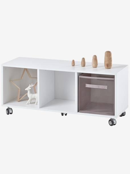 meuble bas de rangement comptine blanc 1 vertbaudet enfant