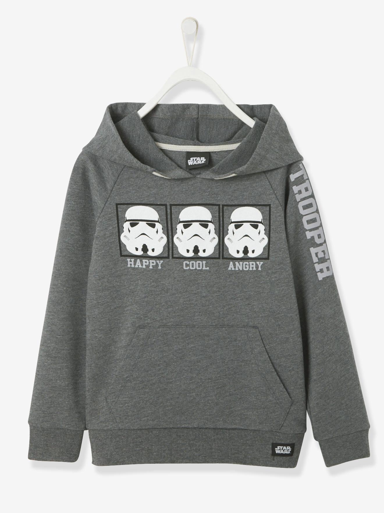Sweat-shirt garçon à capuche Star Wars® manches longues anthracite