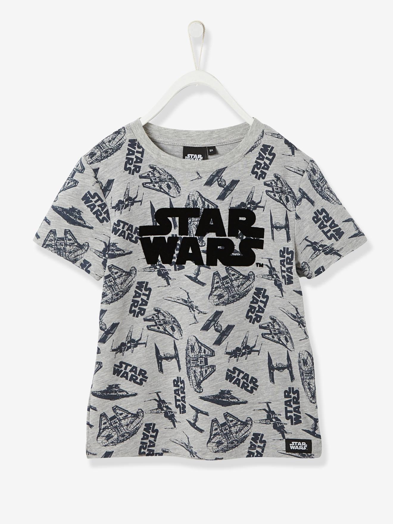 SOLDES - T-shirt garçon Star Wars® manches courtes gris chiné