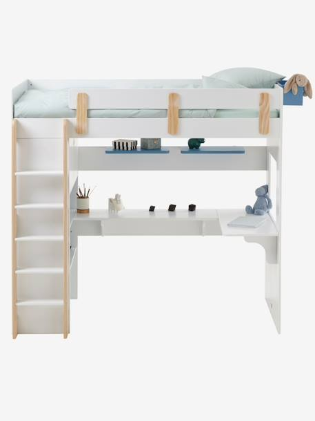 lit mezzanine combin ligne everest blanc bois vertbaudet. Black Bedroom Furniture Sets. Home Design Ideas