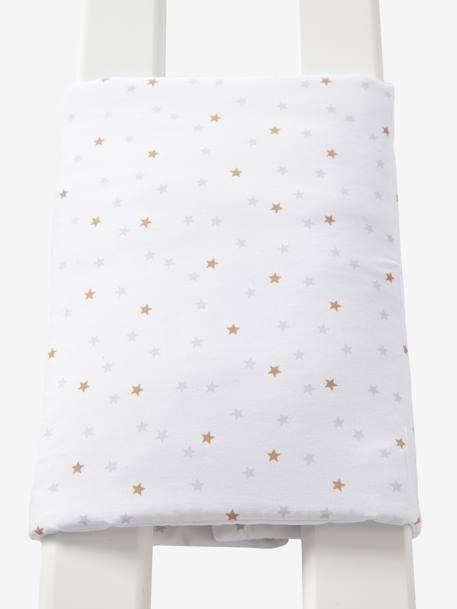 tour de lit respirant loup des neiges blanc imprim. Black Bedroom Furniture Sets. Home Design Ideas