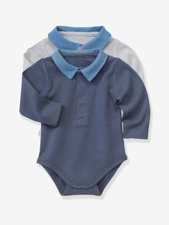 Outlet-Lot de 2 bodies bébé col polo