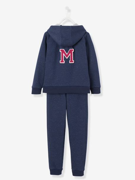 Ensemble sport fille sweat zippé + pantalon Gris+Marine 8 - vertbaudet enfant