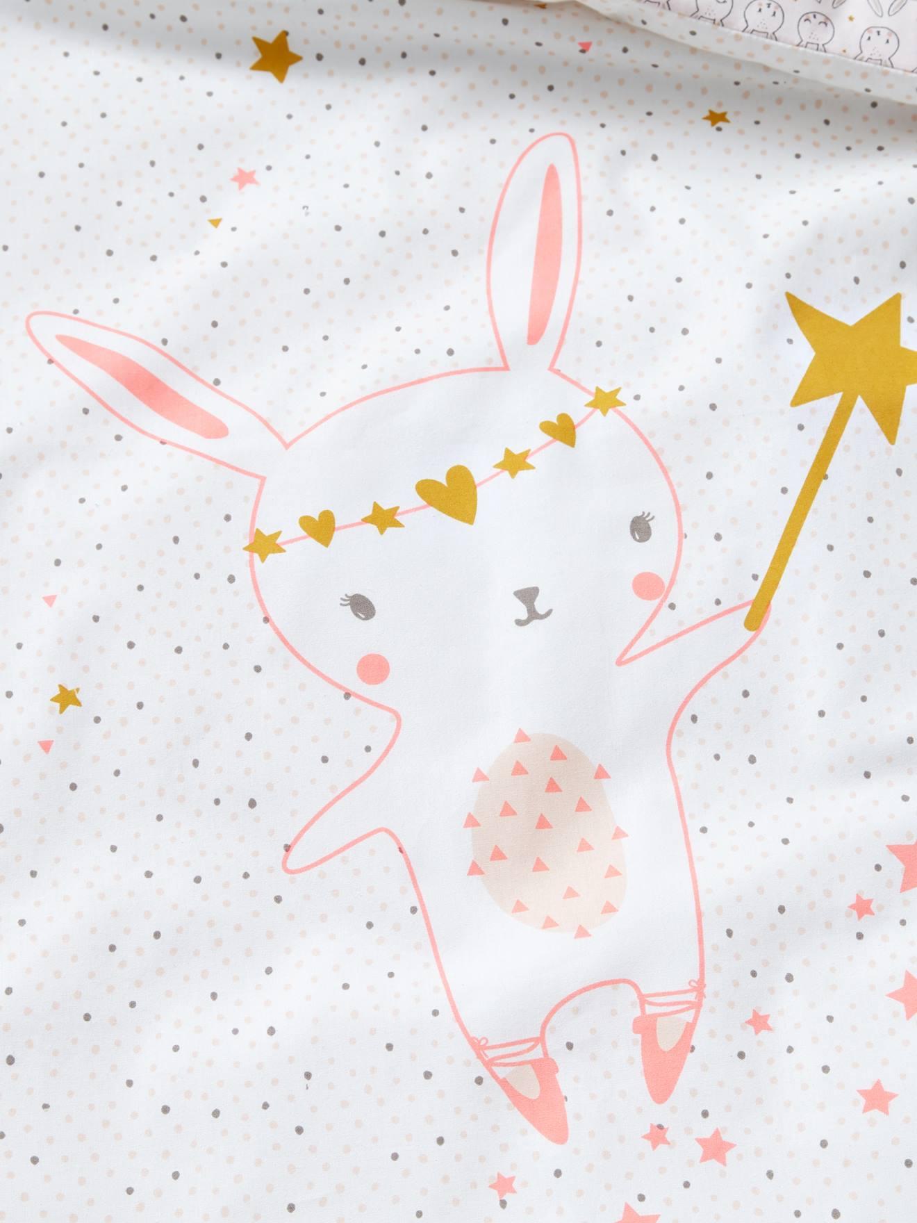 830279db1e7ab Housse de couette bébé FEERIE écru   rose - Vertbaudet
