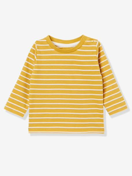 Lot de 2 T-shirts bébé garçon manches longues LOT CARAMEL+Lot jaune moutarde+LOT MARINE GRISE+Lot Rouge 8 - vertbaudet enfant