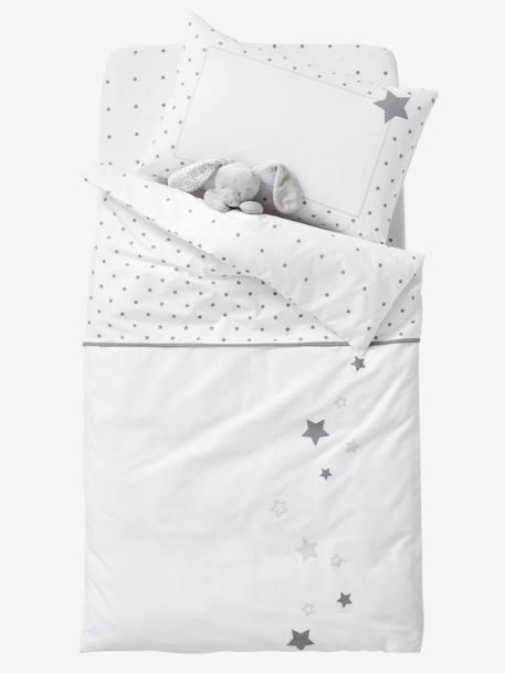 drap housse b b pluie d 39 etoiles blanc toiles vertbaudet. Black Bedroom Furniture Sets. Home Design Ideas
