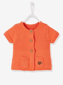 Outlet-Gilet bébé fille en tricot points mélangés