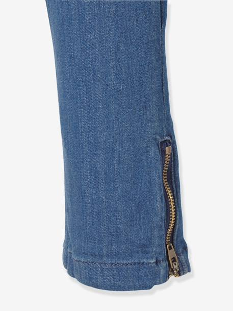 Tregging fille en denim ultra-stretch tour de hanches FIN Double stone 4 - vertbaudet enfant