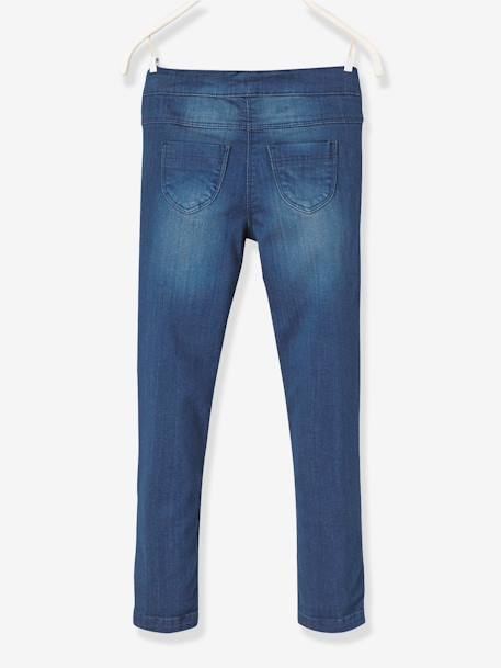 Tregging fille en denim ultra-stretch tour de hanches MEDIUM Double stone 2 - vertbaudet enfant