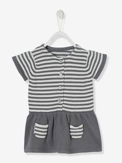 Outlet-Robe bébé fille en tricot