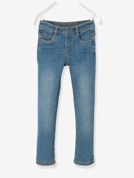 Jean slim garçon tour de hanches MEDIUM Denim gris+Stone 5 - vertbaudet enfant