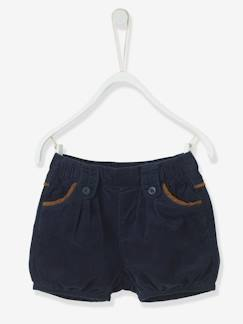 shorts-Short bébé fille en velours milleraies