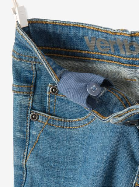 Jean slim garçon tour de hanches MEDIUM Denim gris+Stone 8 - vertbaudet enfant