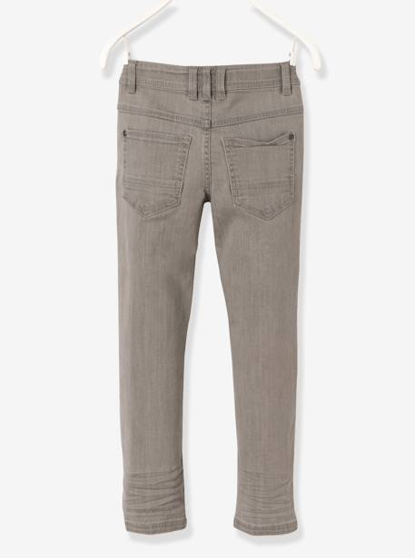 Jean slim garçon tour de hanches MEDIUM Denim gris+Stone 3 - vertbaudet enfant