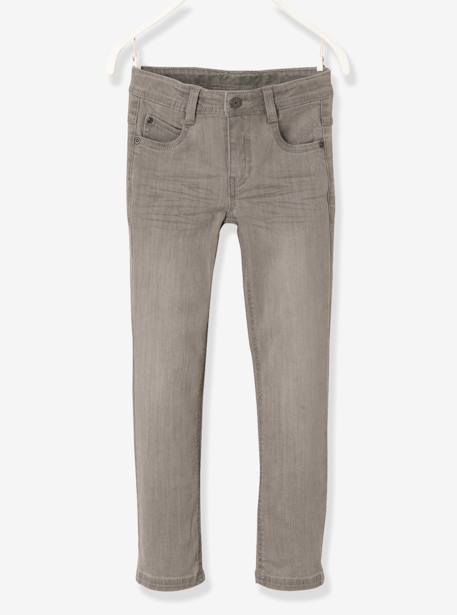 Jean slim garçon tour de hanches MEDIUM Denim gris+Stone 1 - vertbaudet enfant