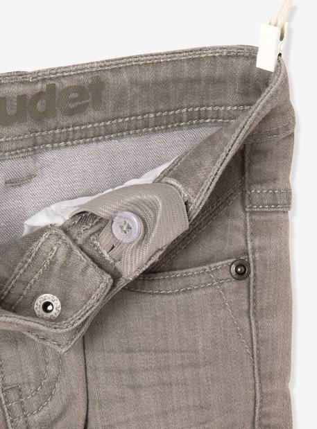 Jean slim garçon tour de hanches MEDIUM Denim gris+Stone 4 - vertbaudet enfant
