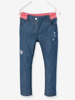 ARC EN CIEL-Pantalon fille en denim coupe boyfriend