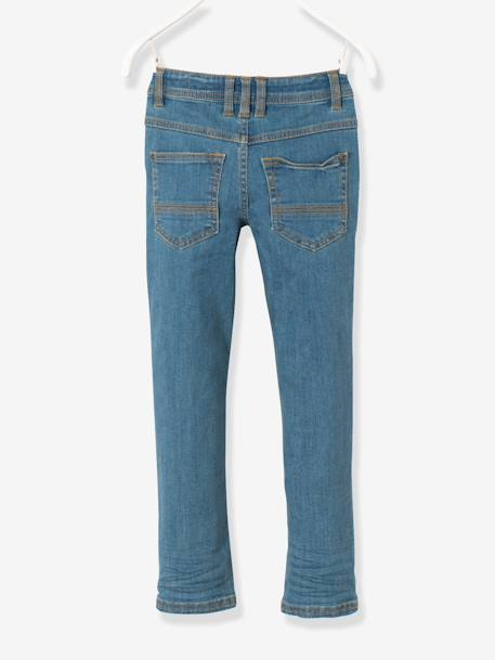 Jean slim garçon tour de hanches MEDIUM Denim gris+Stone 7 - vertbaudet enfant