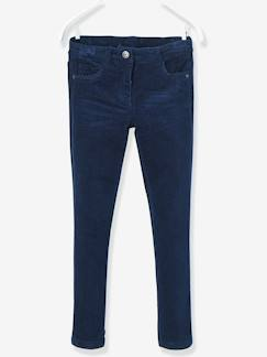 Fille-Pantalon slim fille en velours tour de hanches FIN