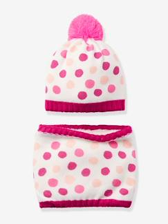 Vêtements de Ski enfant-Ensemble ski fille bonnet et snood