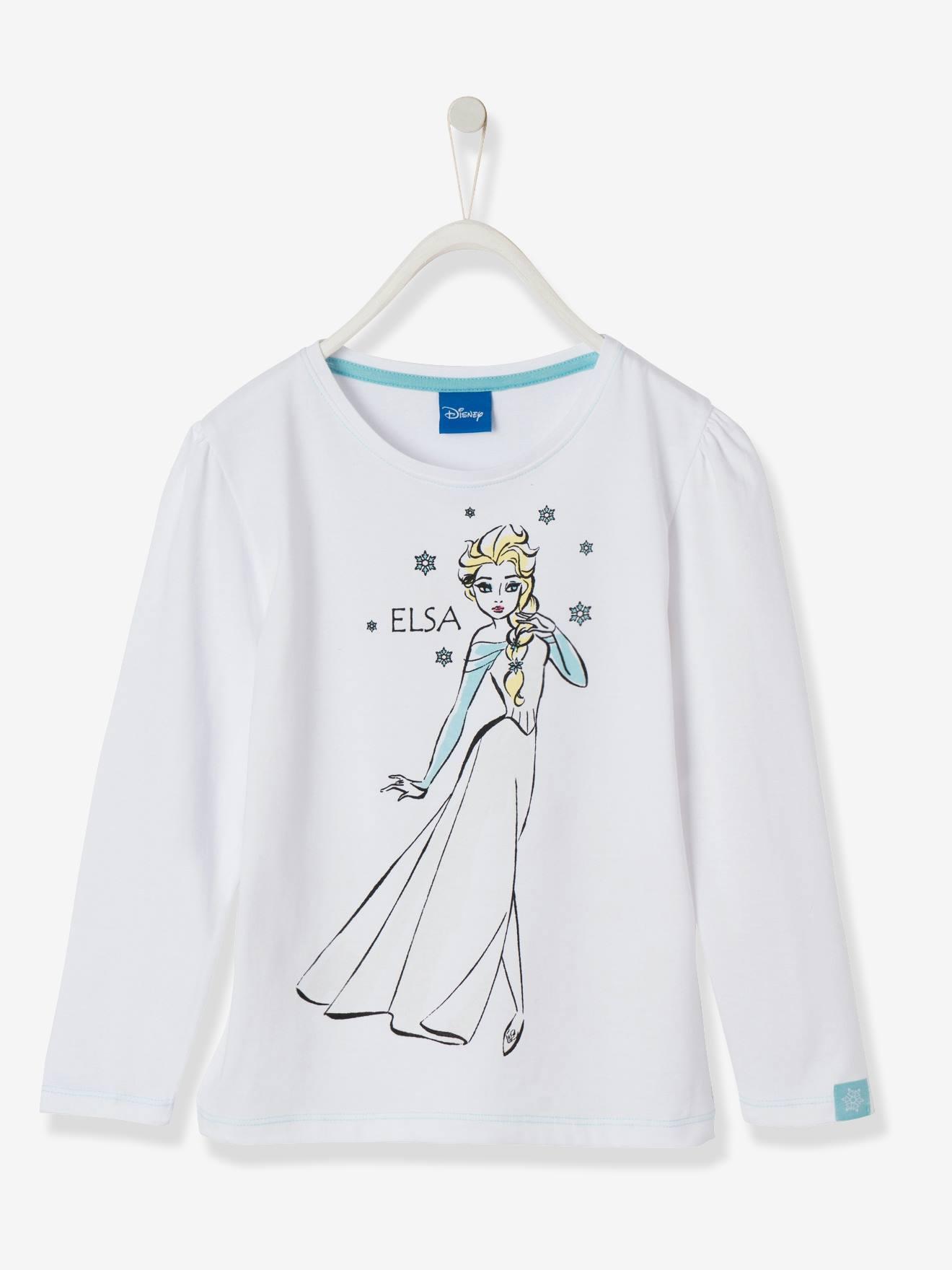 T-shirt fille Reine des neiges® à motif magique blanc