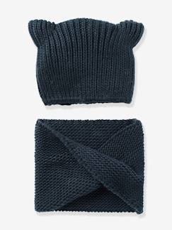 Fille-Snood fille + bonnet fantaisie