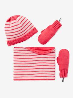 Fille-Ensemble fille bonnet + snood + gants