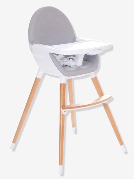 Chaise haute volutive 2 hauteurs topseat gris vertbaudet - Chaise haute autour de bebe ...