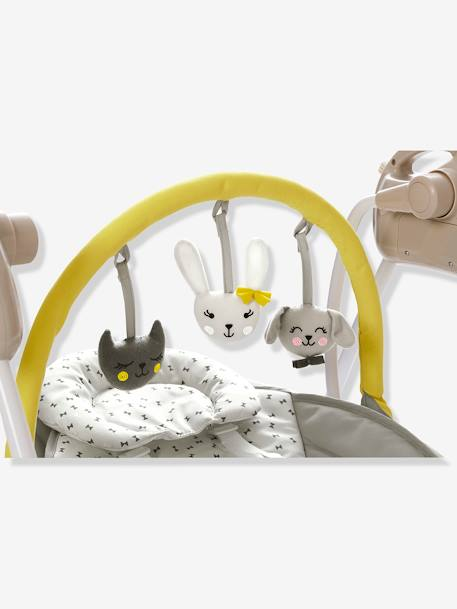 balancelle avec arche de jeux babyswing vertbaudet beige vertbaudet. Black Bedroom Furniture Sets. Home Design Ideas