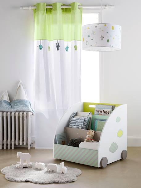 rideau voilage souffle de vert blanc vert gris vertbaudet. Black Bedroom Furniture Sets. Home Design Ideas