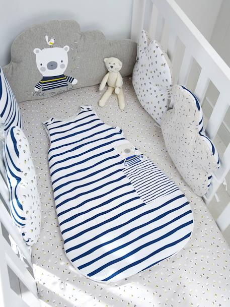 f24a10902a133 Tour de lit modulable  Marin plaisir  Gris blanc 1 - vertbaudet enfant