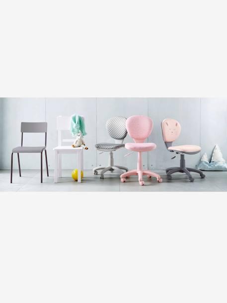 Chaise De Bureau A Roulettes Etoiles Gris Vertbaudet