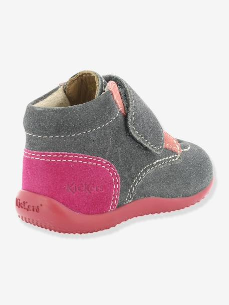 Bottines bébé fille Bono KICKERS® à patte scratch Gris 2 - vertbaudet enfant