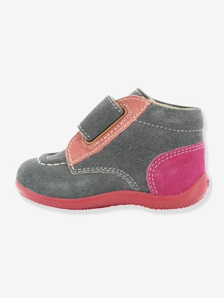 Bottines bébé fille Bono KICKERS® à patte scratch Gris 8 - vertbaudet enfant