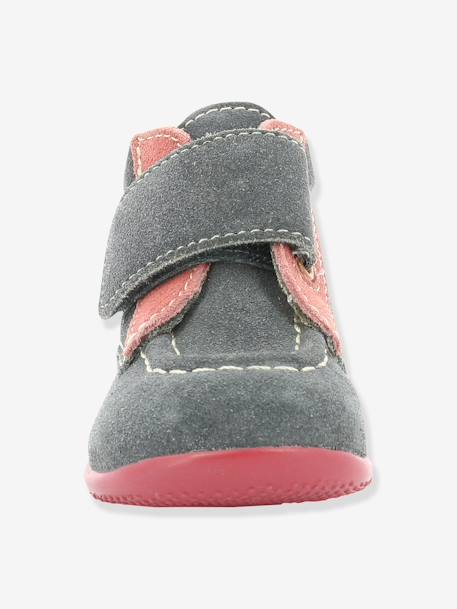 Bottines bébé fille Bono KICKERS® à patte scratch Gris 9 - vertbaudet enfant