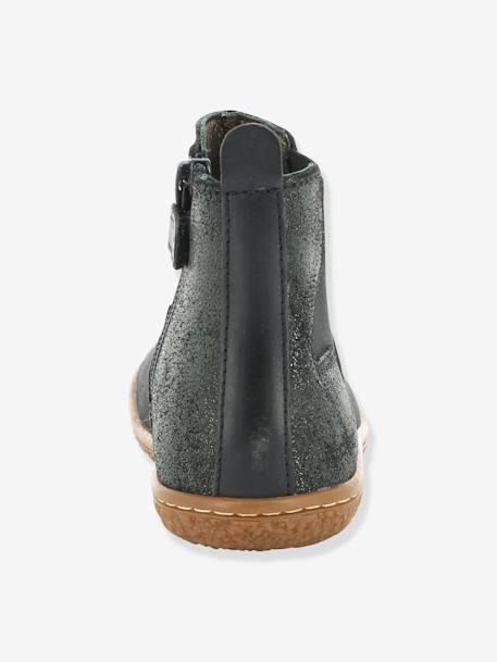 d2be6f9605fc8 Boots fille Vermillon KICKERS® MARINE+Noir 17 - vertbaudet enfant