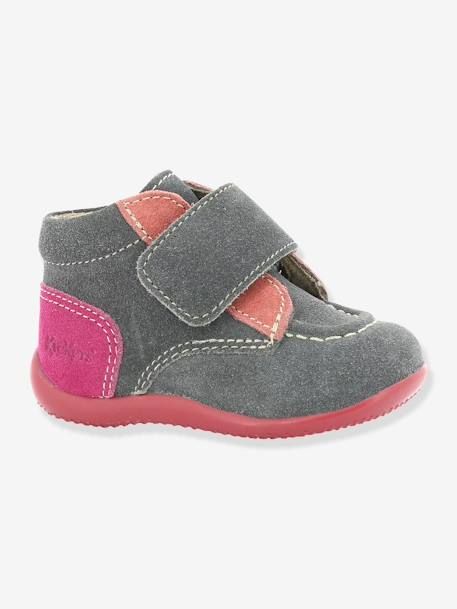 Bottines bébé fille Bono KICKERS® à patte scratch Gris 6 - vertbaudet enfant
