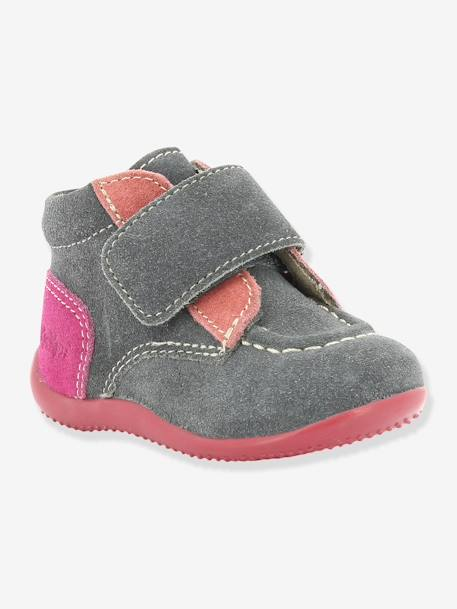 Bottines bébé fille Bono KICKERS® à patte scratch Gris 5 - vertbaudet enfant